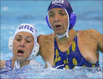 Womens water polo breast excellent